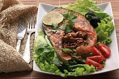 Herbalife minceur forme omega 3 saumon salade