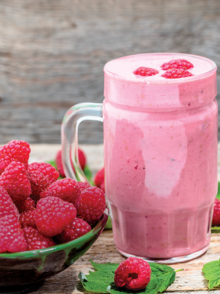 Smoothie douceur framboises 320x427